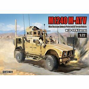 T-MODEL-GH72A01-1-72-US-M1240-M-ATV-MRAP-All-Terrain-Vehicle-w-O-GPK-Turret-Set