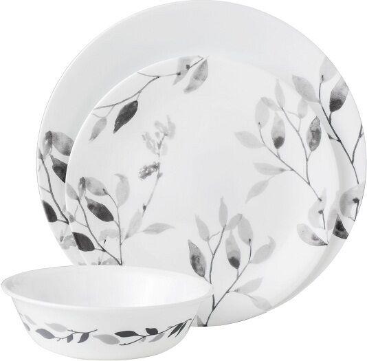 Corelle Boutique Misty Leaves 12-piece Elegant Dinnerware Set Service for 4 | eBay  sc 1 st  eBay & Corelle Boutique Misty Leaves 12-piece Elegant Dinnerware Set ...