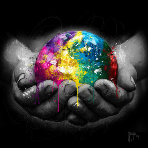 WE ARE THE WORLD BY PATRICE MURCIANO POP ART PRINT KEYRINGS-MUGS-ART PRINT