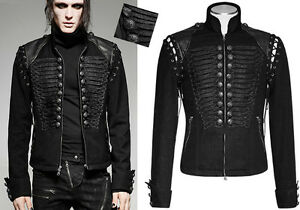 EN-STOCK-Veste-blouson-jeans-gothique-militaire-baroque-broderie-PunkRave-homme
