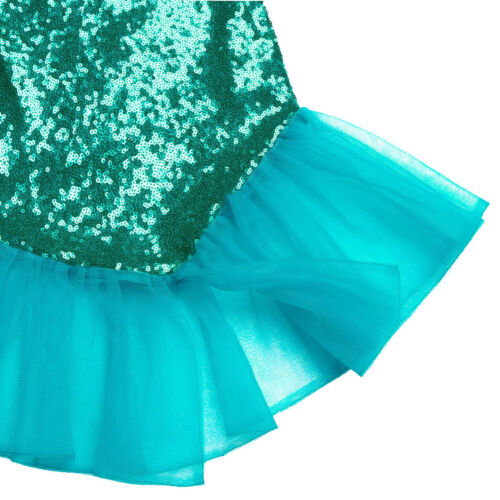 Girls Kids Mermaid Tail Skirt Costume Princess Fancy Dress Cosplay Party Outfits