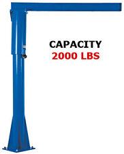 Vestil Freestanding Floor Mounted Jib Crane 2000 Lb Capacity
