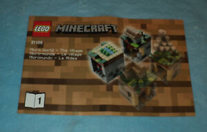 Lego-21105-Minecraft-Micro-World-The-Village-Instruction-Manual-Book-1