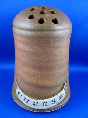 Retro (NU) BETTE BEAZLEY Unique POTTERY PARMESAN CHEESE SHAKER with CORK In Aust