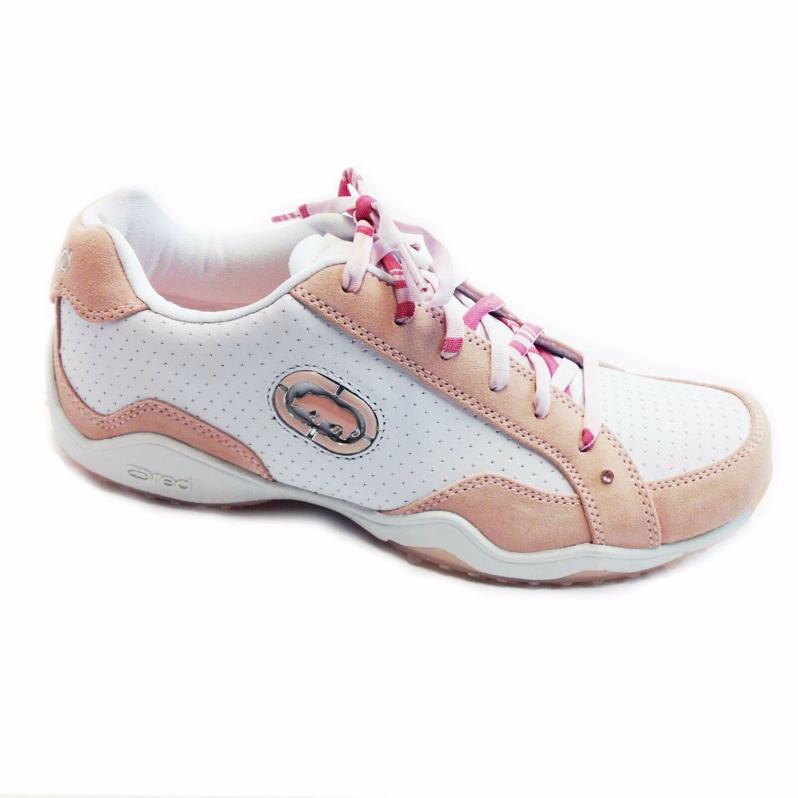 Women Ecko Red shoes WHITE  PINK CAMEO STYLE 26006 SIZE6-10