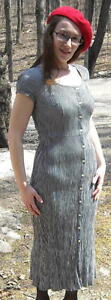 Laundry-by-Shelli-Segal-Black-and-White-Check-Dress-Size-Small-FREE-SHIPPING