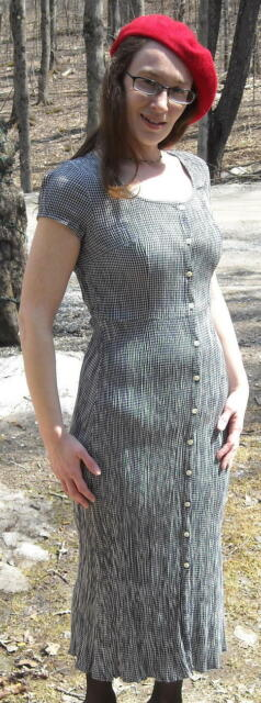 Laundry by Shelli Segal Black and White Check Dress Size Small FREE SHIPPING