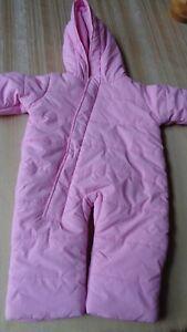 BABY-BEGINNINGS-Baby-Girls-Months-3-6-Bunting-Snowsuit-Pink-3-6-MONTHS