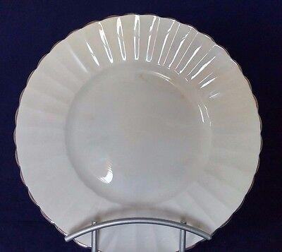 "Susie Cooper ""White Flute"" Bone China Luncheon Salad Plates England Mid-Century"