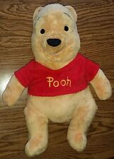 Soft Cute Winnie the Pooh Disney Store Teddy Bear Stuffed Animal Plush Toy