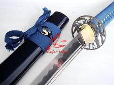 hand forged 1060 carbon steel japanese katana bamboo tsuba sharpened sword