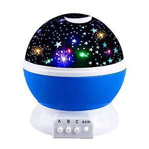 Led Night Light Lamp Relaxing Kids Moon Star Girls Toys 2 10 Year