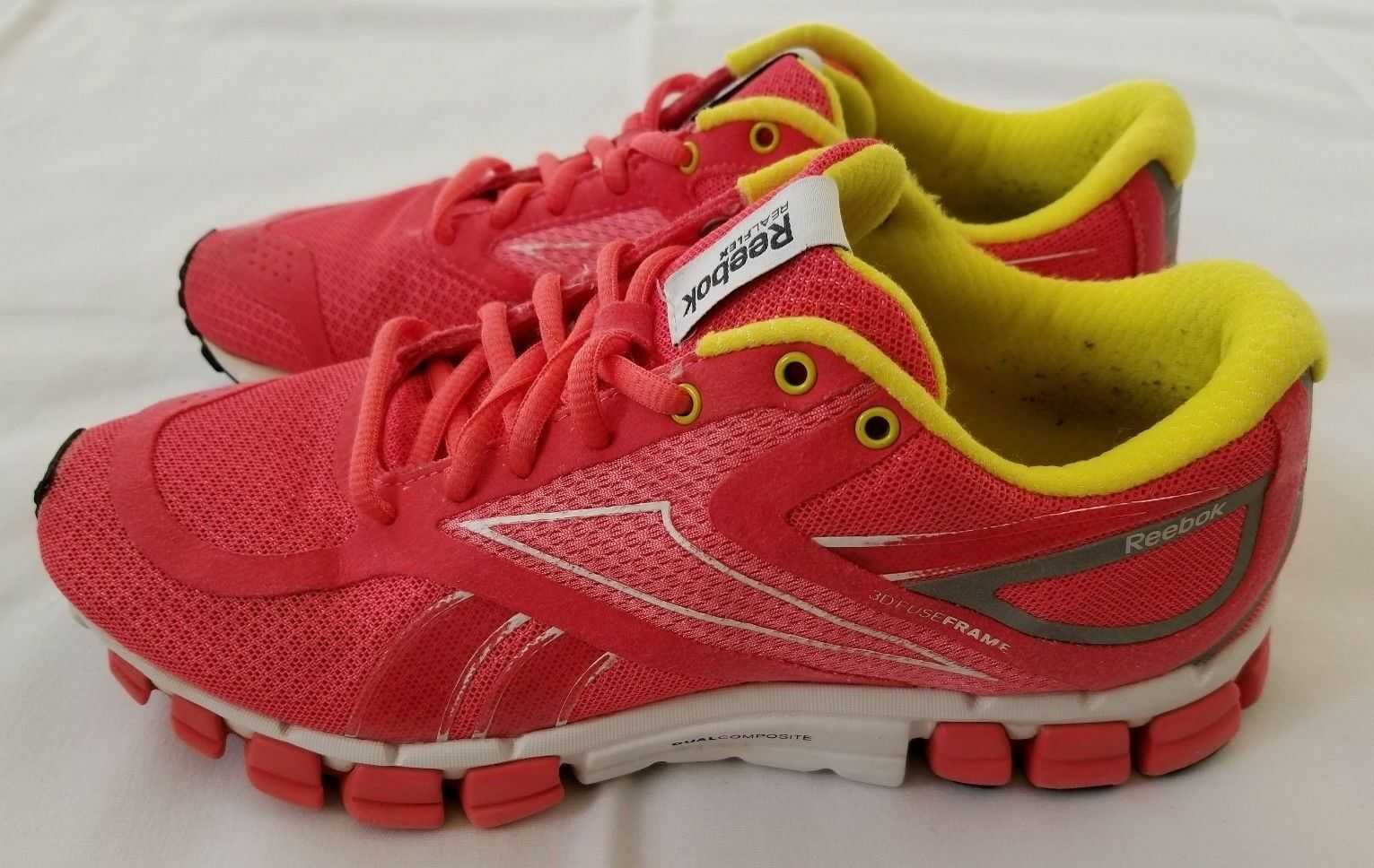 Womens Size 7 Pink Reebok RealFlex Select 3D Fuseframe Running shoes (pre-owned)