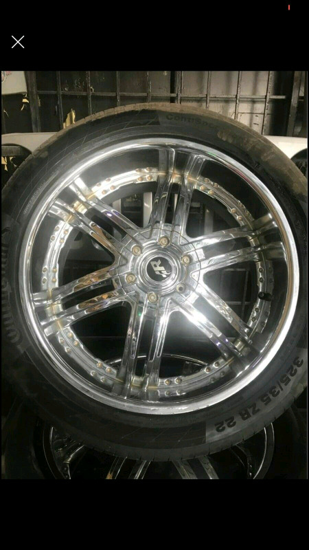 6/139 PCD Mags  and Wheels for  325/35/22  Rims and Tyres Set