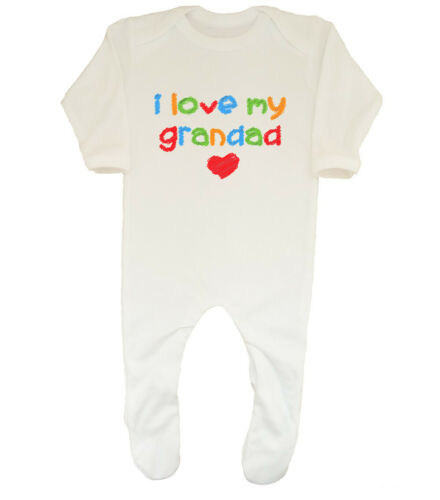I Love my Grandad Cute Boys Girls Baby Grow Sleepsuit