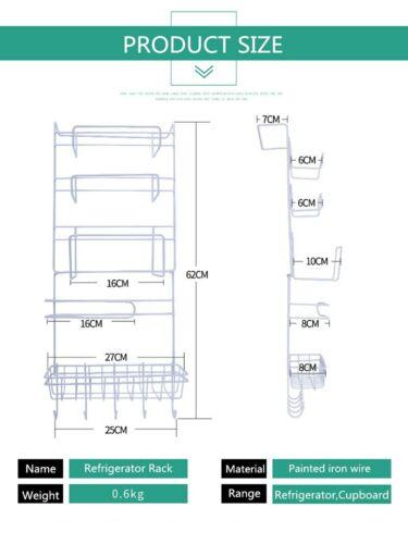 Refrigerator Rack Holder Multifunctional Kitchen Supplies Organizer Household