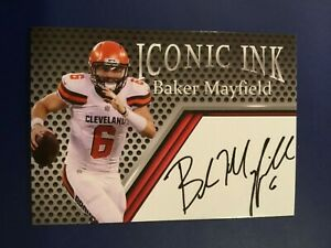 BAKER-MAYFIELD-2018-Iconic-Ink-Auto-Rookie-RC-HOT-Cleveland-Browns-FAC-Autograph