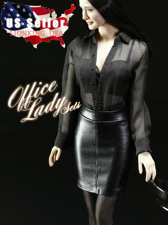 1 6 Sexy Office Lady Shirt Skirt shoes Set For 12'' PHICEN TBLeague Figure ❶USA❶