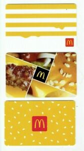 McDonalds-Gift-Card-LOT-of-3-Hamburger-Stripes-Sesame-Seeds-No-Value