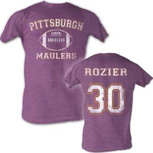 Mike-Rozier-30-USFL-Pittsburgh-Maulers-Men-039-s-Tee-Shirt-Neon-Purple-Sizes-S-2XL