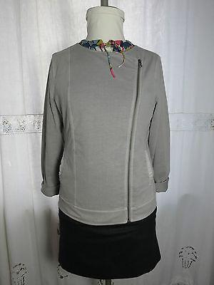 Marc O´Polo Damen Biker Zipper Cardigan Sweat Jacke 38 40 Herbst Grau NEU