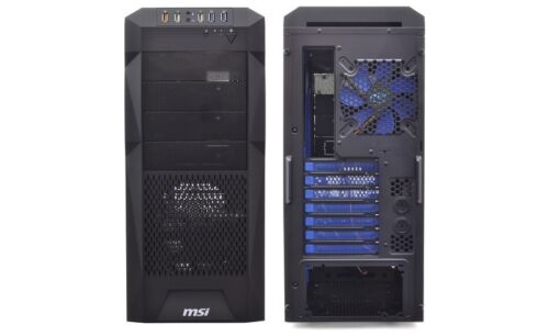 MSI Stealth IN-602 7-Bay ATX Mid Tower Computer Case 120mm Blue LED Fan USB 3.0
