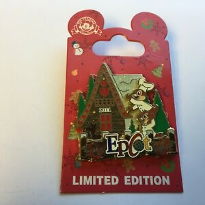 WDW-Gingerbread-House-2011-Epcot-Chip-and-Dale-LE-2500-Disney-Pin-87814