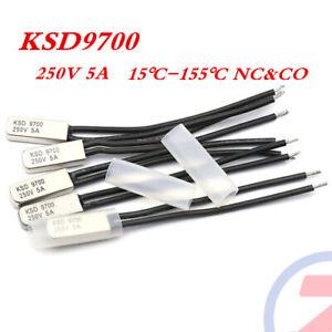 2Stk 5A 250V Öffner //Schließer Temperaturschalter KSD9700 P//D