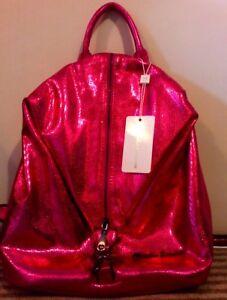 BNWT Rucksack Bag Glittery Pink small Canova RwEZXqE