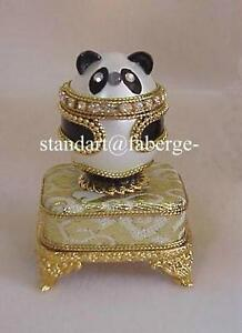 Russian panda music box egg plays fur elise with golden faberge image is loading russian panda music box egg plays fur elise aloadofball