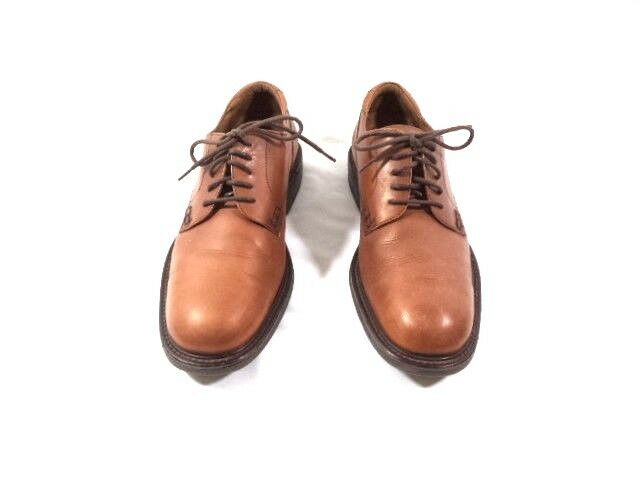 Men's Florsheim Comfortech Brown Leather Oxfords Sz 10.5M
