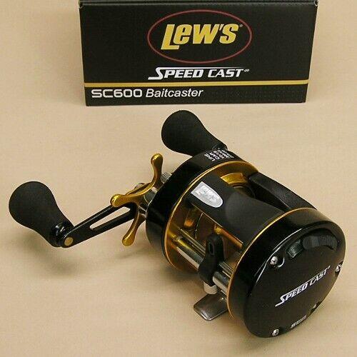 Lew/'s Speed Cast Round Baitcaster Reel 5.3:1 Right Hand Lews Model SC600