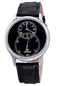 Skone-Men-039-s-Black-Leather-Strap-Watch-9295-COD-PAYPAL