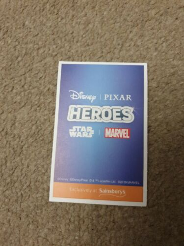 Sainsburys Disney Heroes Cards Mickey and Minnie number 103 Blue