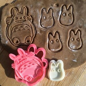 Studio-Ghibli-New-Totoro-Collection-cookie-cutters-2pcs-Plastic-3dprinted