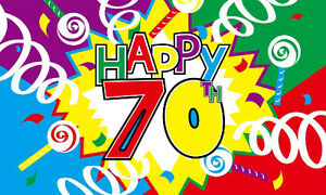 Image Is Loading 5 039 X 3 Happy 70th Birthday
