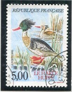 Timbre France Oblitere N° 2788 Faune / Harle Huppe BéNéFique Au Sperme