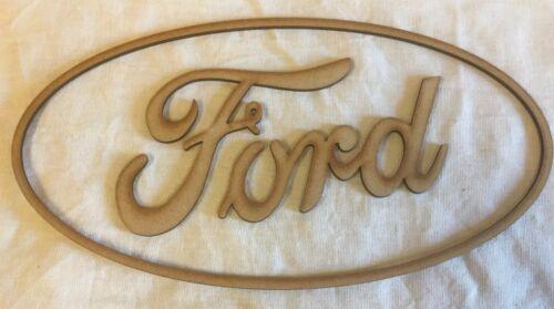 B Ford car logo 300mm X 160mm MDF Laser cut Craft Shape.