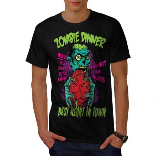 Wellcoda Cena Cuore cervello Da Uomo T-shirt fresco design grafico stampato T-shirt