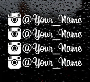 4-X-INSTAGRAM-YOUR-NAME-CUSTOM-PERSONALISED-WINDOW-VW-VINYL-DECAL-STICKER-font