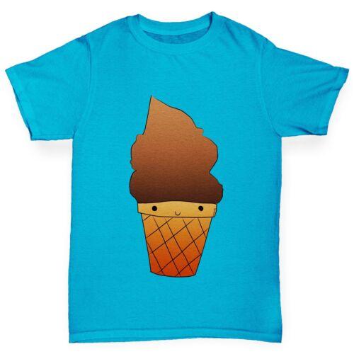 Twisted ENVY Ragazzo Gelato al cioccolato Premium T-shirt di cotone