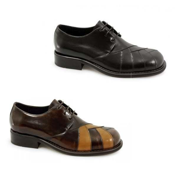 Ikon ZODIAC Mens Polished Leather Classic MOD 60s Retro Solatio Lace Up shoes