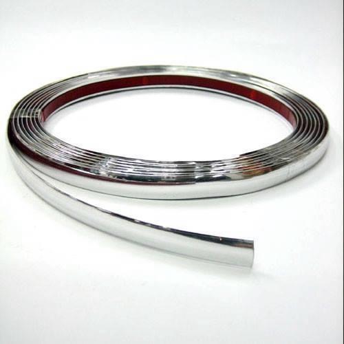 9mm x 5m Chrom Zierleiste Leiste Chromleiste Selbstklebend Flexibel Kunststoff