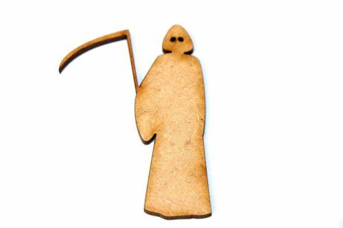 Madera Mdf Halloween Grim-Reaper formas empavesado Craft Adornos Decoraciones