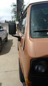 Volkswagen Type 2 (T3) Vanagon Side Mirrors Set With Adapter Brackets Left Right