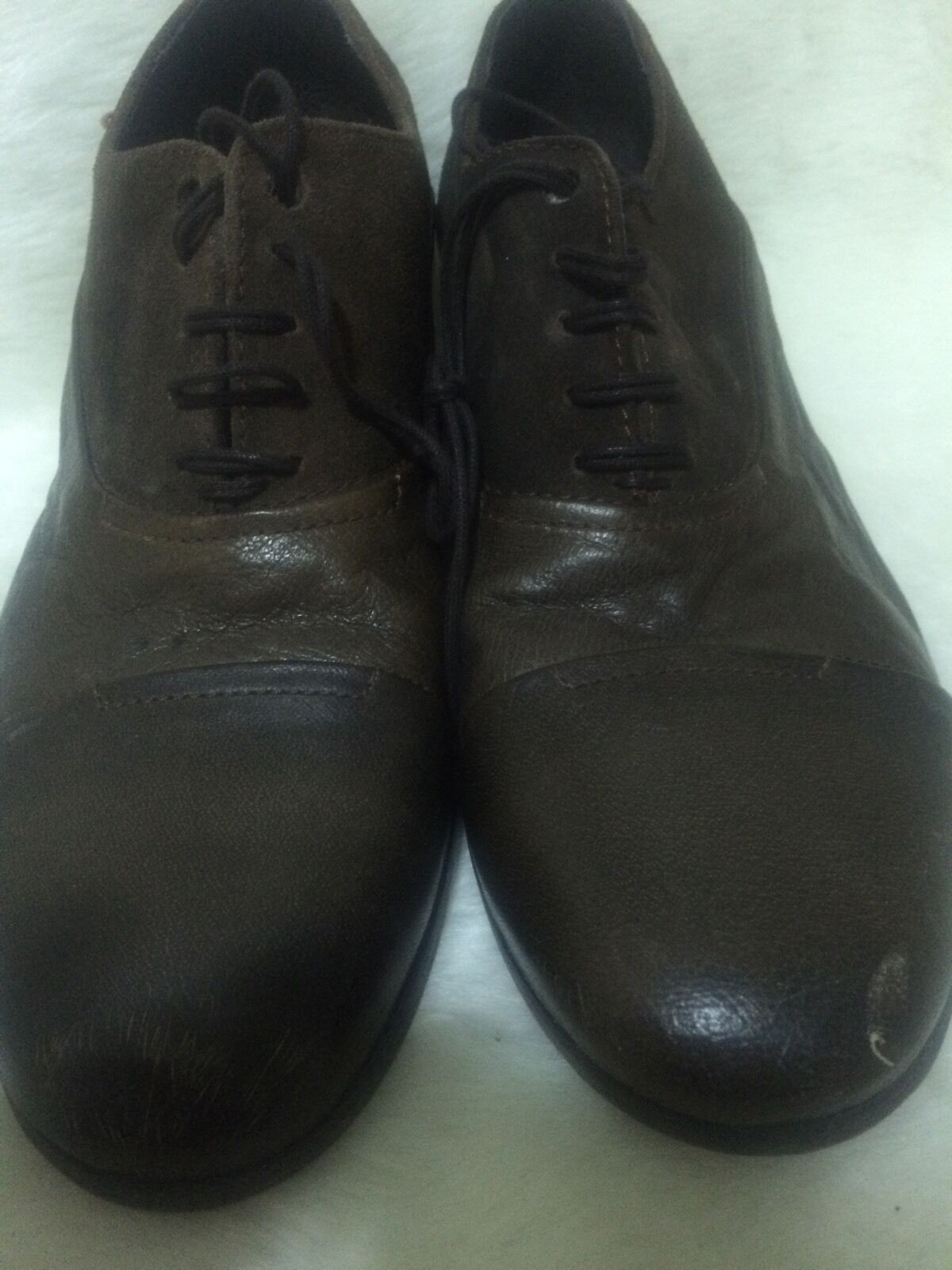 Diesel Oxford Brown Suede Leather Size 47Eur.