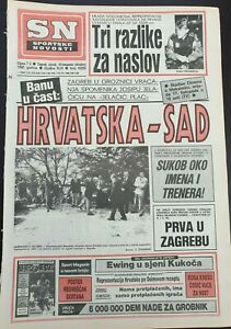 Sn Sportske Novosti Football Croatia Usa Friendly Game Announcement Oct 16 1990 Ebay