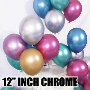 """12/"""" Pouces Métallique Pearl Chrome Latex Ballons Pour Mariage Fête D/'Anniversaire 100 pcs."""