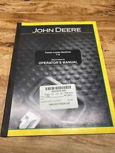 John Deere Tractor Loader Backhoe 110, Operator's Manual, OMLVU13606
