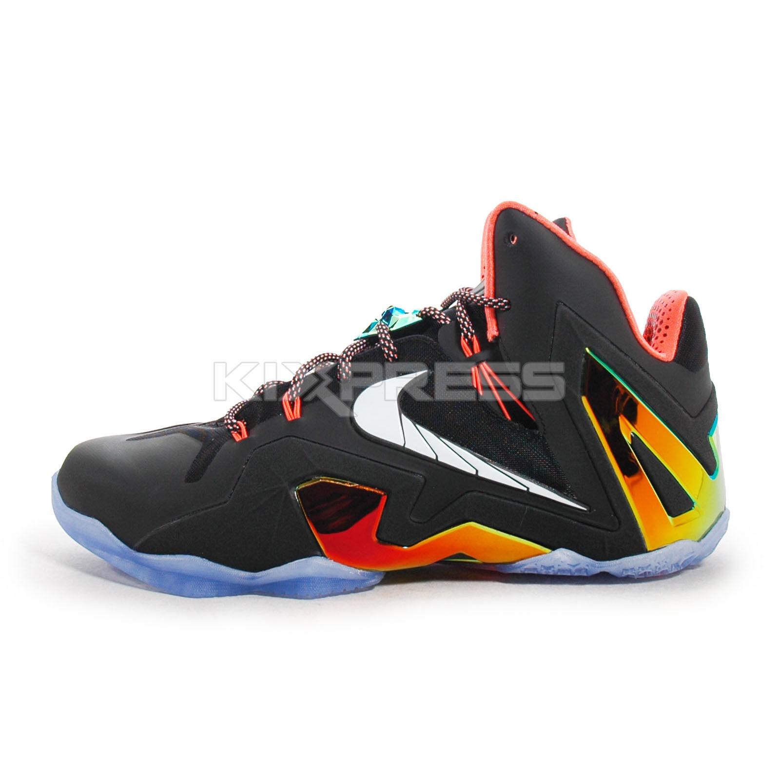 on sale d6aa5 6e2d4 Nike Lebron XI Elite  642846-002  Basketball Black White-Gold-